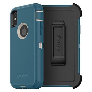 OtterBox DEFENDER SERIES Case for iPhone X (ONLY) - Retail Packaging - BIG SUR (PALE BEIGE/CORSAIR)