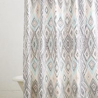 Agueda Shower Curtain by Anthropologie Grey Motif One Size Shower Curtains