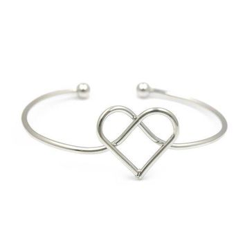 New Arrival Gold Color Or Silver Color Plated Assorted Designs Heart Tie Bow Ball Bendable Bangles For Women And Men