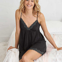 Aerie Sleep Nightie , True Black