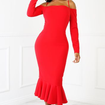 Milana Dress - Red