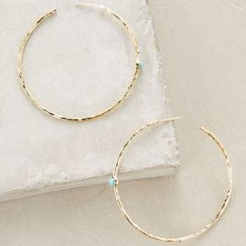 Del Mar Hoops by Anthropologie in Turquoise Size: One Size Earrings