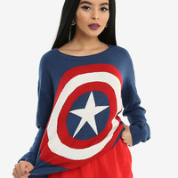 Her Universe Marvel Captain America Shield Girls Sweater