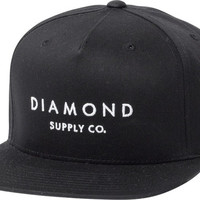 Diamond Stone Cut Hat Adjustible Black