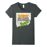 Sorry My Lizard ate my Homework Kids- Teacher School T-shirt