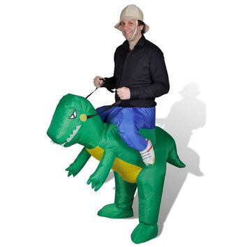 Woman Cosplay Inflatable Dinosaur Costume - Fan Operated Adult Kids Size Halloween Animal Costumes Dino Rider T-Rex
