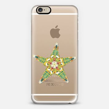 starfish flower transparent phone case (one of 5 different starfish) ~ get $10 off using code: 5A7DC3