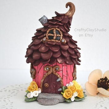 Fairy House - Fairy Garden - Fairy Garden Kit - Tooth Fairy House - Garden Decor - Mini House - Fairy Home - Polymer Clay House - Fairy Deco