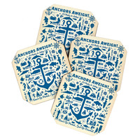 Anderson Design Group Anchors Aweigh Coaster Set