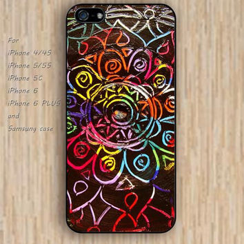 iPhone 5s 6 case colorful mandala phone case iphone case,ipod case,samsung galaxy case available plastic rubber case waterproof B308