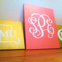 Monogrammed Greek Canvas (PRE-ORDER)
