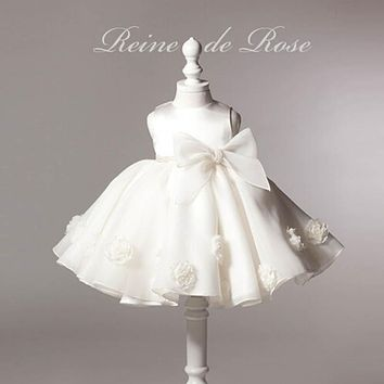 White Baby Baptsm Dress 0-24M Newborn bebes princess dress 1 years birthday party dress infant baby girls clothes