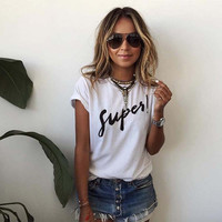"Women's ""Super"" Casual Graphic T-Shirt"