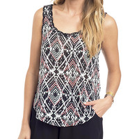 Aztec Chic Embroidered Woven Tank Top