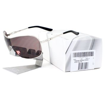 Oakley OO 4078-07 POLARIZED COLLECTED Polished Chrome OO Grey Womens Sunglasses