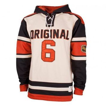 Old Time Hockey Nhl Original 6 Belden Heavyweight Lace Fleece Hoodie