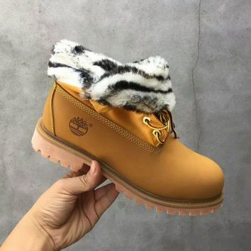 PEAPON Timberland Rhubarb Boots 21694 Yellow Waterproof Martin Boots
