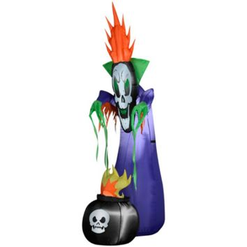 SheilaShrubs.com: Airblown Inflatable Haunting Reaper with Cauldron 64119 by Gemmy: Halloween