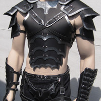 Bordered Gothic Leather Armor Set