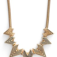 Women's Lonna & Lilly Frontal Necklace - Worn Gold