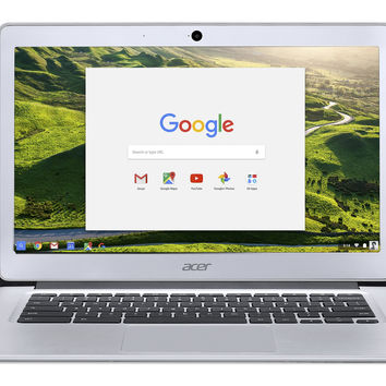 Acer Chromebook 14 Aluminum 14-inch Full HD Intel Celeron Quad-Core N3160 4GB LPDDR3 32GB Chrome CB3-431-C5FM Silver Chromebook