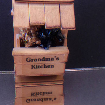 Grandmas Kitchen Wooden Flower Stand Magnet Vintage Kitchen Home Decor