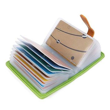 10 colors credit card holder credit card wallets for women men leather 26 card slots