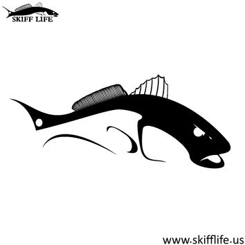 Bull Redfish Decals in Black or White WHZZ