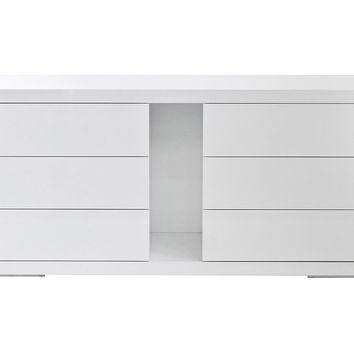 "Hite 71"" Buffet/Dresser, White, Buffets & Sideboards"