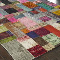 """Mona"" Patchwork Rug - Horchow"