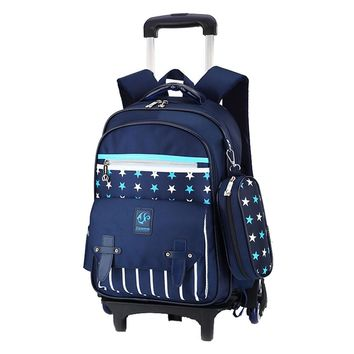 Removable Children School Bags with 2/3 Wheels for Boys Girls Trolley Backpack Kids Wheeled Bag Bookbag travel luggage Mochilas