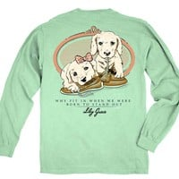 Lily Grace Puppies Long Sleeved Shirt in Island Reef 10432