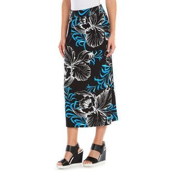 Dana Buchman Print Pleated Skirt   Women's Size: