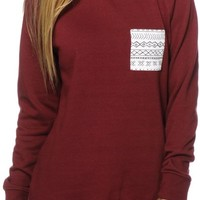 Empyre Robinson Tribal Pocket Crew Neck Sweatshirt