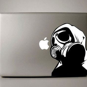 Gas Mask - Macbook Decal laptop sticker mac decal MacBook air decal laptop sticker
