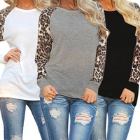 Plus Size Fashion Womens Tops Long Sleeve Pullover Loose Casual T Shirt Blouse