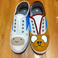 Adventure Time Shoes by twentyfifthandgrey on Etsy