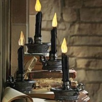 Set of Four LED Halloween Candles - Grandin Road