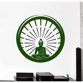 Wall Vinyl Decal Buddhism Buddha Enso Enco Meditation Decor Unique Gift z3806