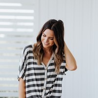Striped Tie Top