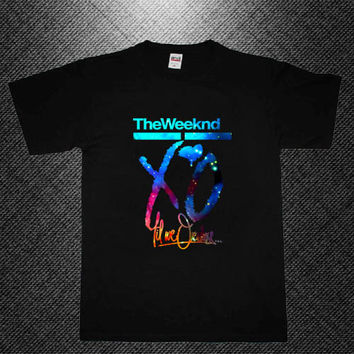 the weeknd xo till we overdose galaxy nebula T-shirt