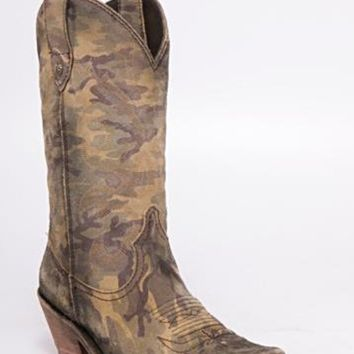 Liberty Black Sienna Suede Camo Boot