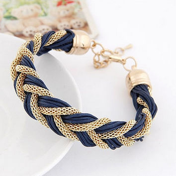 Rope Chain Bracelet For women metal  Fashion Charm Bracelets&Bangles ladies Luxury Braided Jewelry Simple Girl Accessory