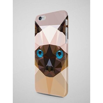 Geometric Siamese Cat iPhone 7 Case iPhone 8 Case Samsung Galaxy S8 Case iPhone SE Case iPhone 8 Plus iPhone 6 Case iPhone 7 Plus Case