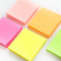 100 sheets Macaron color sticky note Portable adhesive paper post it memo pad Stationery Office accessories School supplies F971