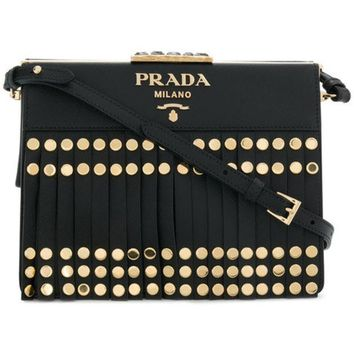 CREYONJF Prada Light Frame Studded Shoulder Bag - Farfetch