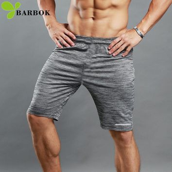 BARBOK Running Shorts Men Exercise Sports Short Pants Jogging Tight Sportswear Workout Yoga Fitness Clothing Gym Wear
