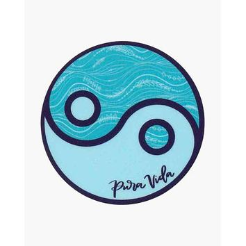 Pura Vida Yin Yang Sticker Decal