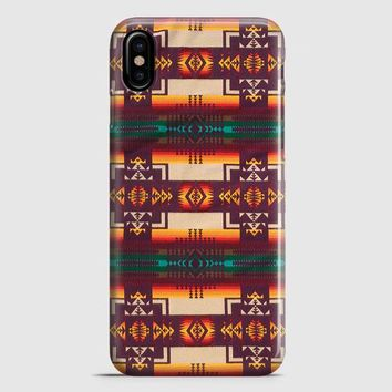 Pendleton Maroon Chief iPhone X Case