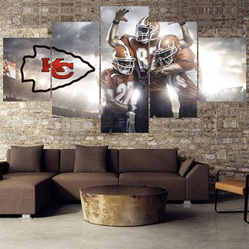 Hot Football Paintings Kansas City Chiefs Modern Home Decor Living Room Bedroom Wall Art Canvas Print Painting Calligraphy